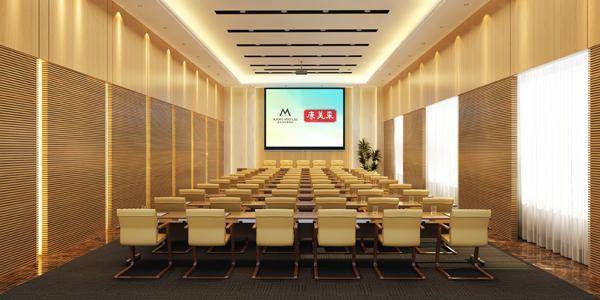 小型会议室效果图-康美来总部国际会议中心装修效果图正式发布