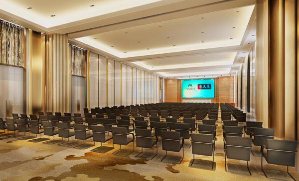 中型会议室效果图-康美来总部国际会议中心装修效果图正式发布